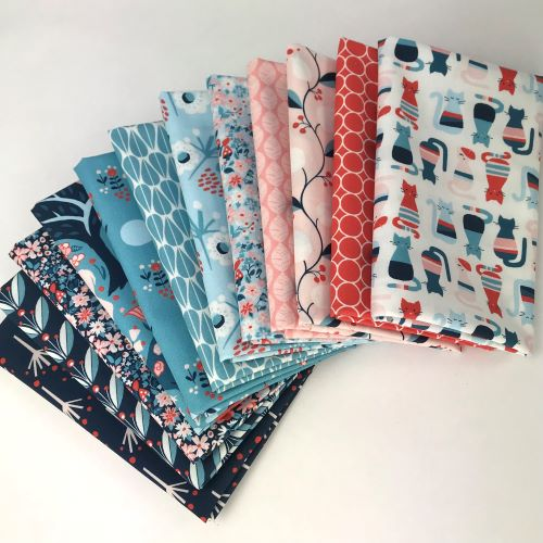 Organic Fat Quarter Bundle, Modern Love, Monaluna