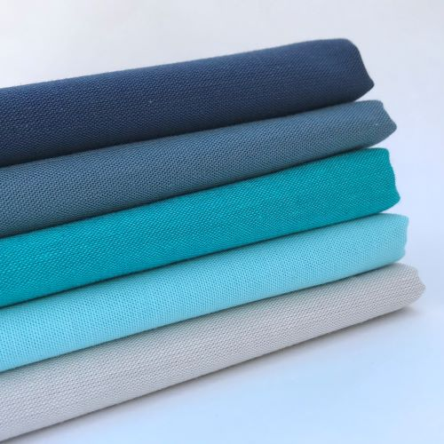 Ombre Blue Organic Solids Bundle, Cloud9 Cirrus Solids