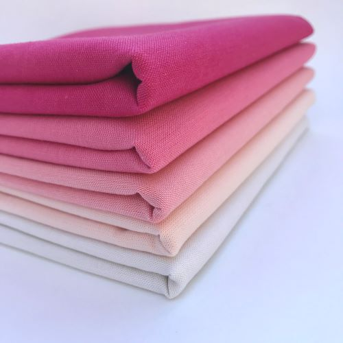 Ombre Pink Bundle, Cirrus Solids, Cloud9 Fabrics, Organic