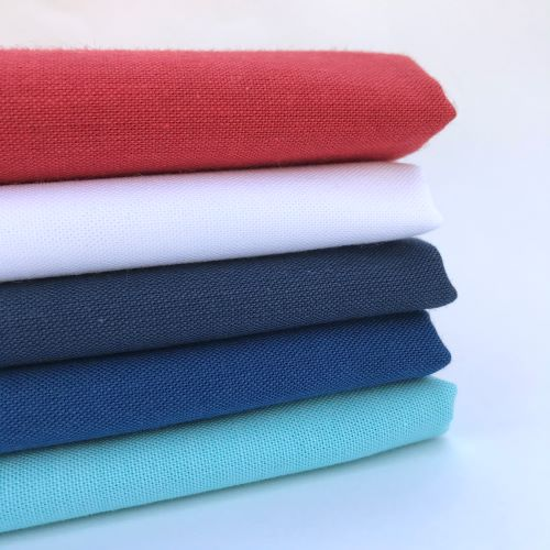 Organic Patriotic Fabric Bundles, Red, White, and Blue Cirrus Solids from Cloud9