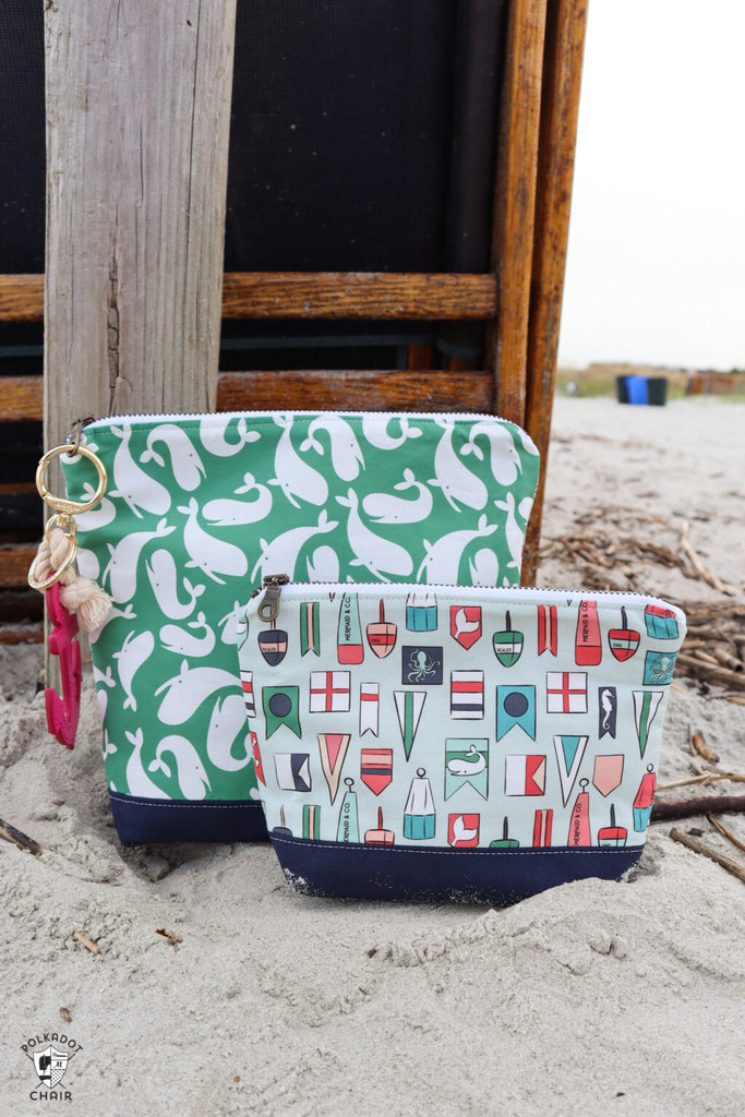 Zippered Bags made by Melissa Mortenson of the Polka Dot Chair
