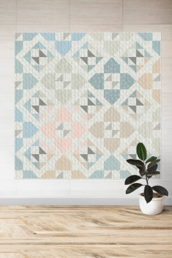 Quilt made with Serenity Fusion fabrics from AGF Studio