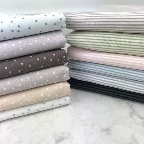 Serenity Dots and Stripes, FIGO Fabrics