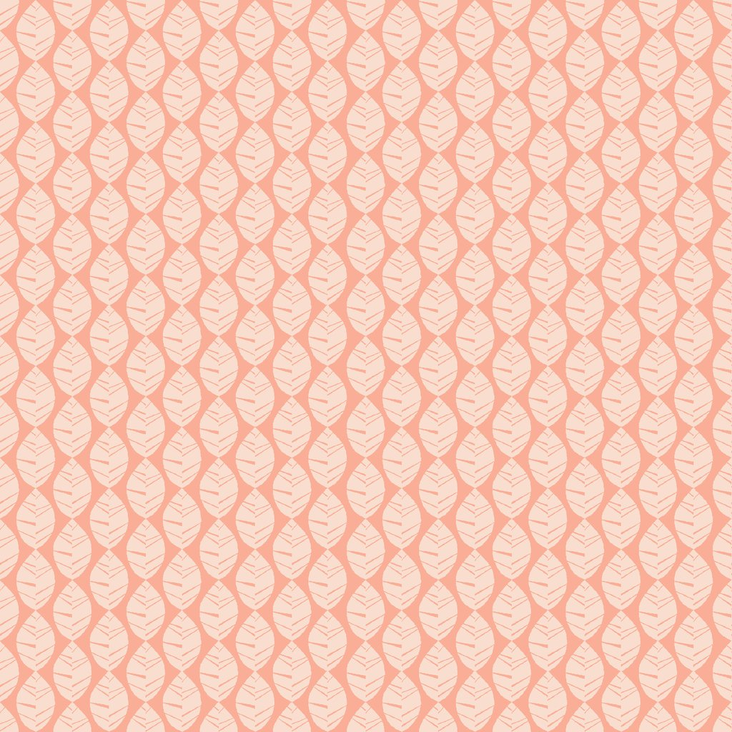 Pink organic fabric with leave pattern from Monaluna