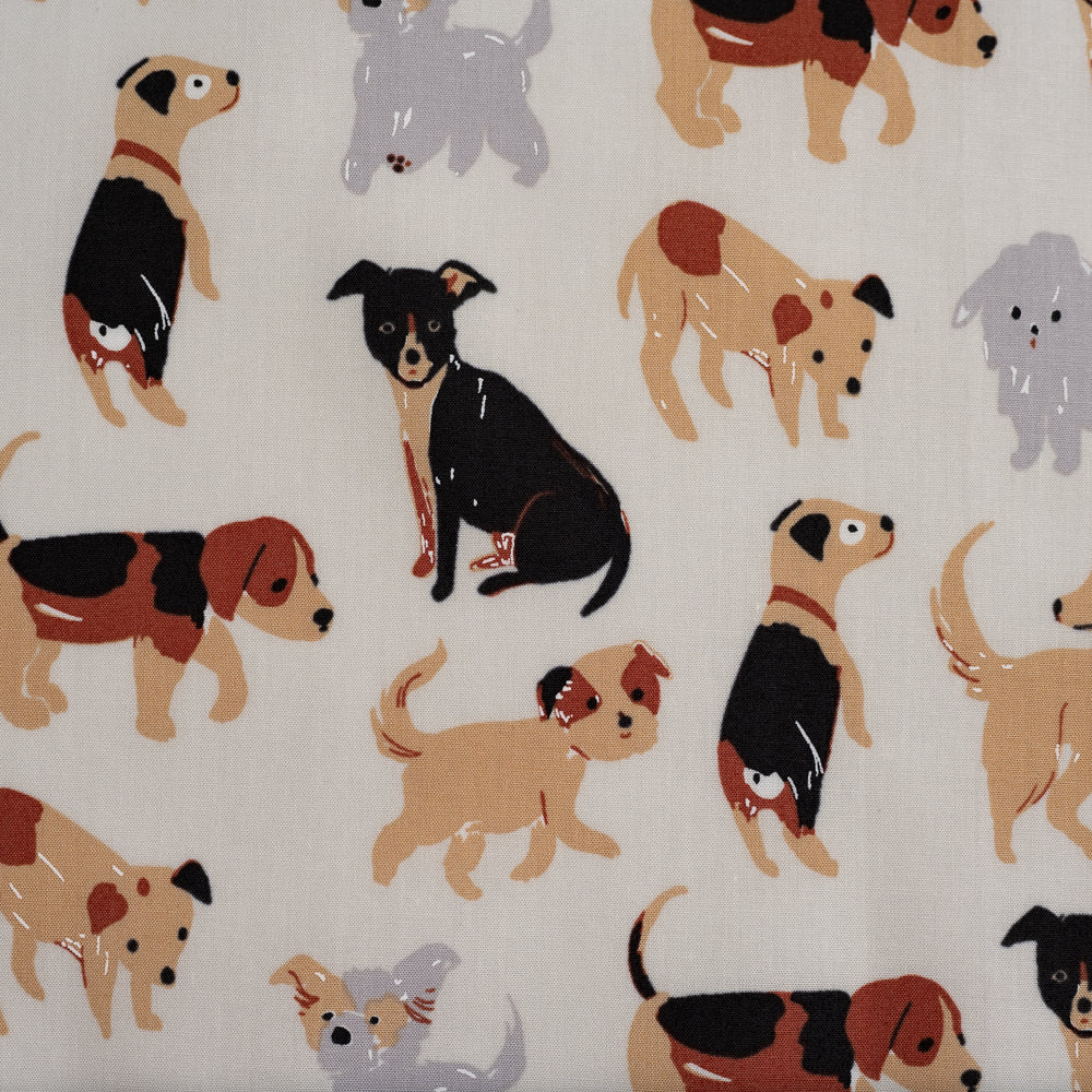 Take a Walk Cream, Dog Park, Birch Fabrics, Organic