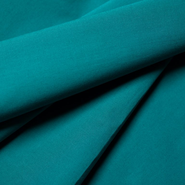 Teal Solid Poplin from Birch Organic Fabrics