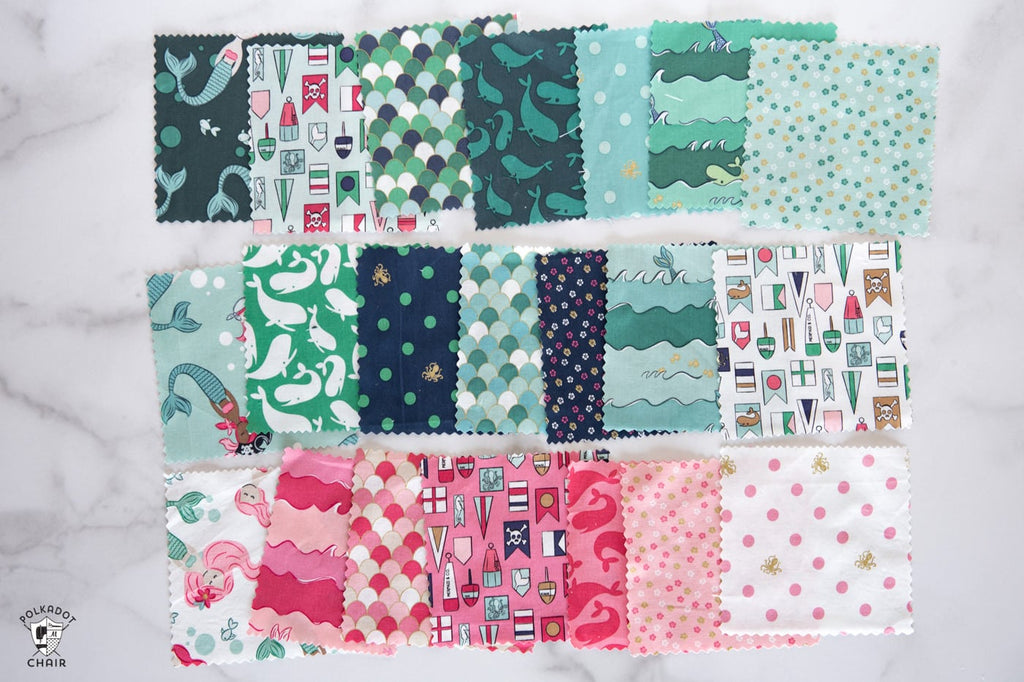 Ahoy! Mermaids fabric collection