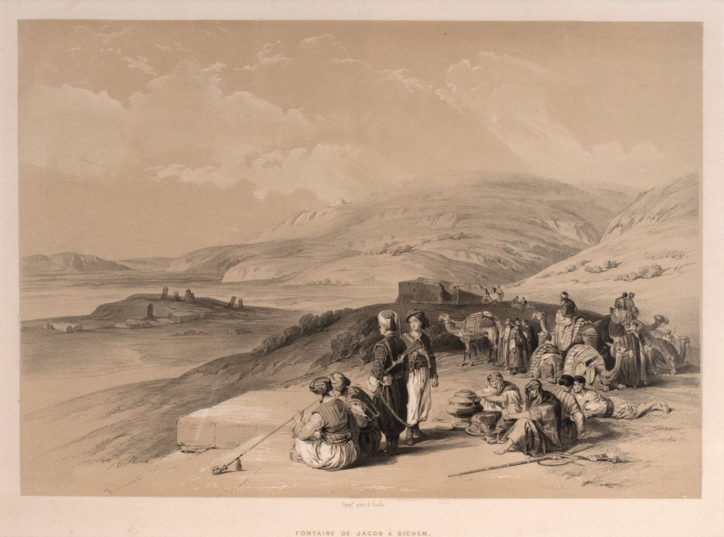 Fountain of Jacob at Sichem: Roberts 1843