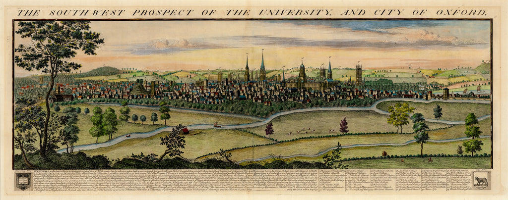 Old map of Oxford University