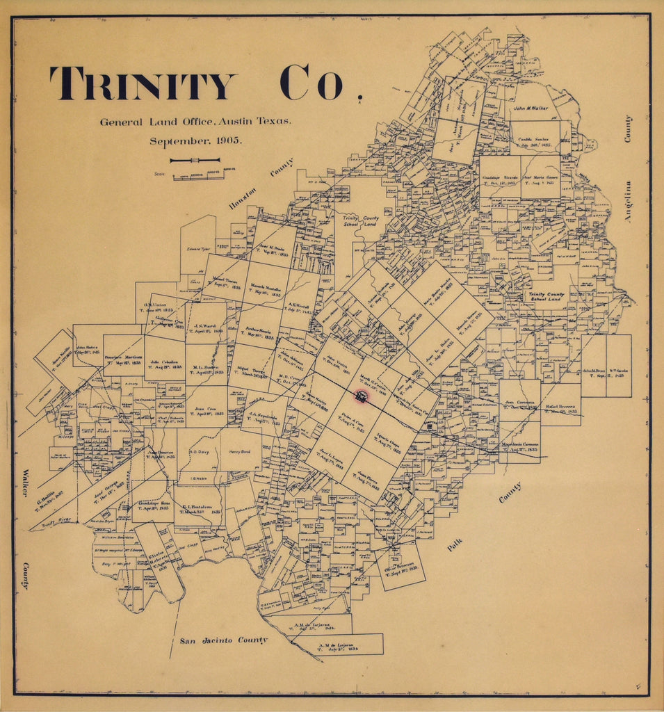Trinity County, Texas: General Land Office 1905