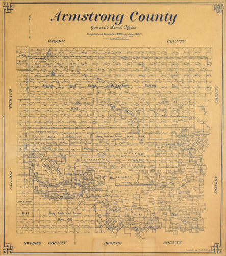 Old map of Armstrong County, Texas