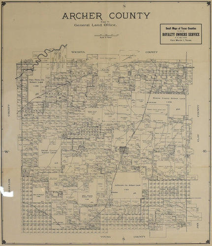 Old map of Archer County, Texas