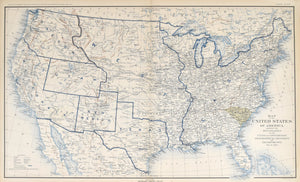Map of the United States of America, Civil War Boundaries: Bien c. 1891