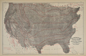 Climatological Map of the United States: O.W. Gray 1883