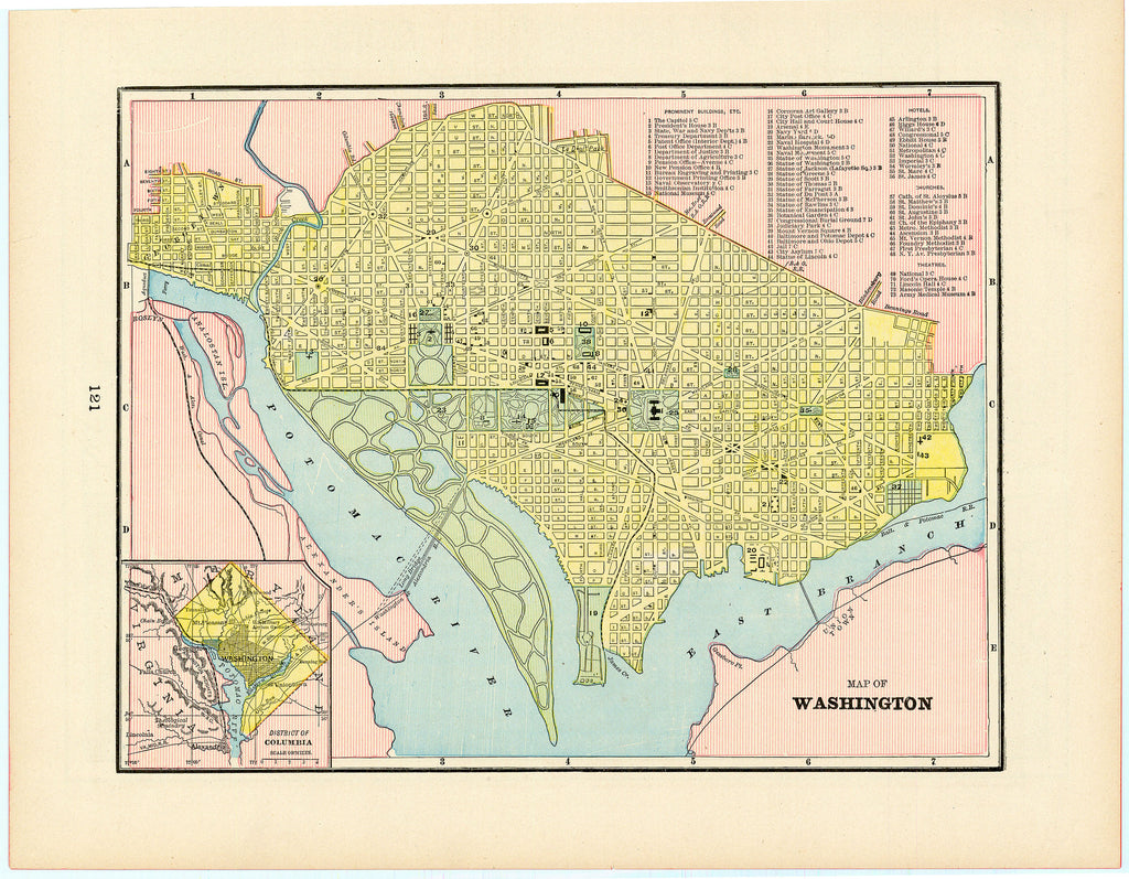 Old map of Washington, D. C.