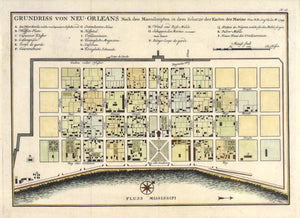 New Orleans: Jacques-Nicolas Bellin: 1756