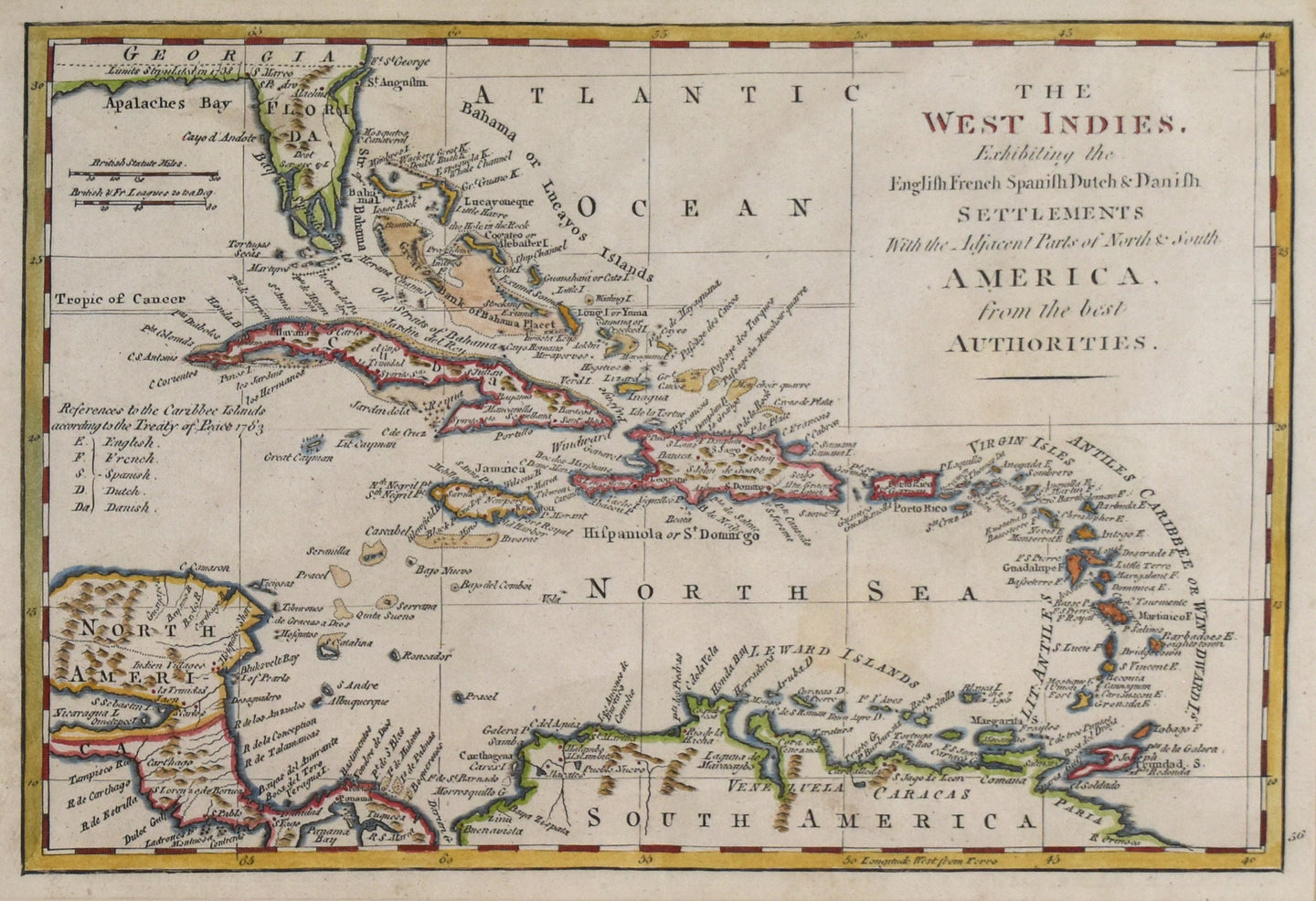 The West Indies: Thomas Jeffreys  c.1785