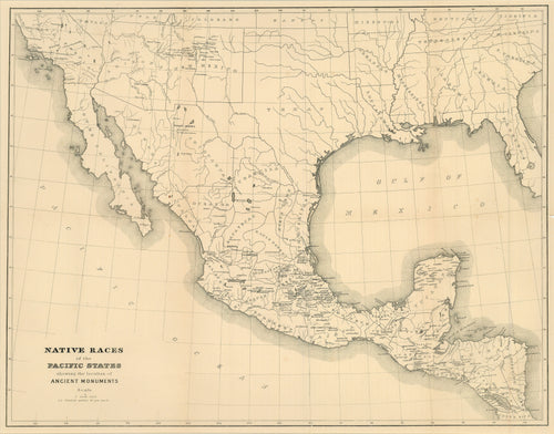Old map of Mexico
