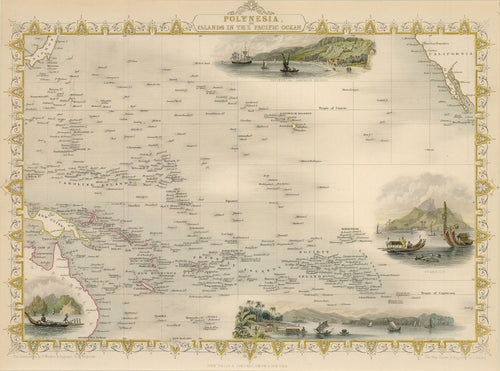 Old map of the Pacific islands