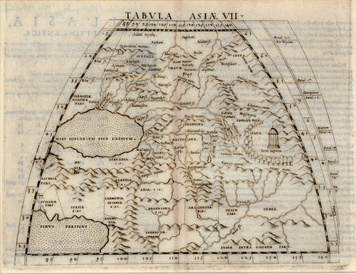 Old map of Asia