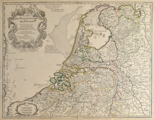 The Netherlands: Guillaume De L'isle 1702
