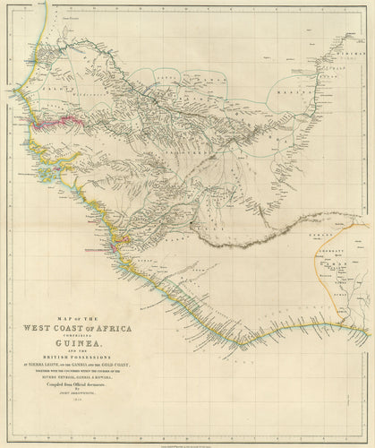 Old map of west Africa