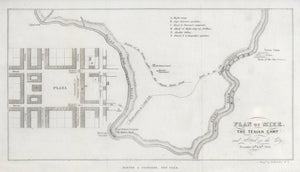 Mier Expedition Plan of Mier and Texian Camp 1844
