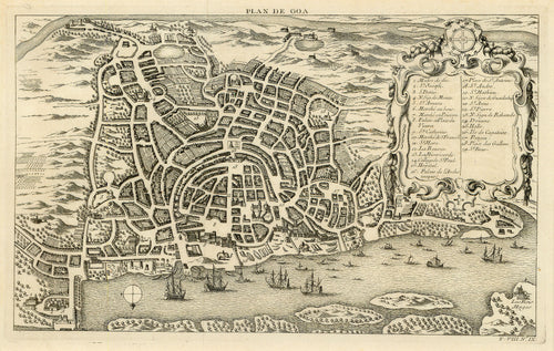 Old map of Goa, India