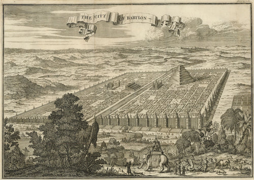 Old map of the city of Babylon