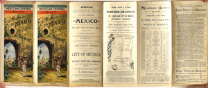 Railroad Map of Mexico and Texas: Mexican Central Railway 1890
