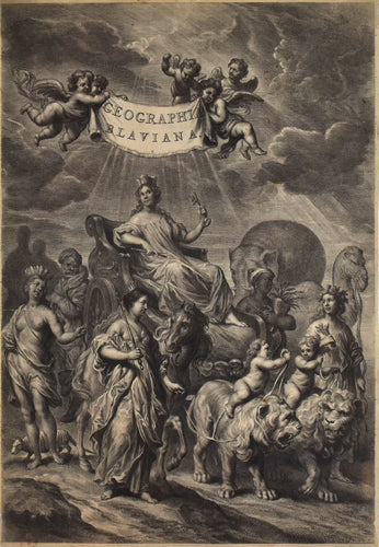 Frontispiece of Geographica Blaviana by Joan Blaeu
