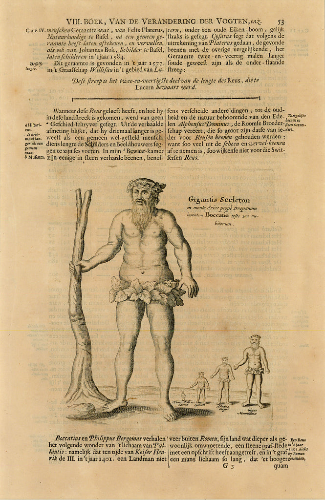 Antique print of giants