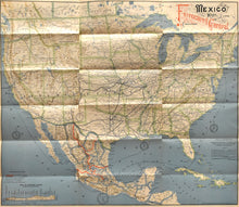 Load image into Gallery viewer, Railroad Map of Mexico and Texas: Mexican Central Railway 1890