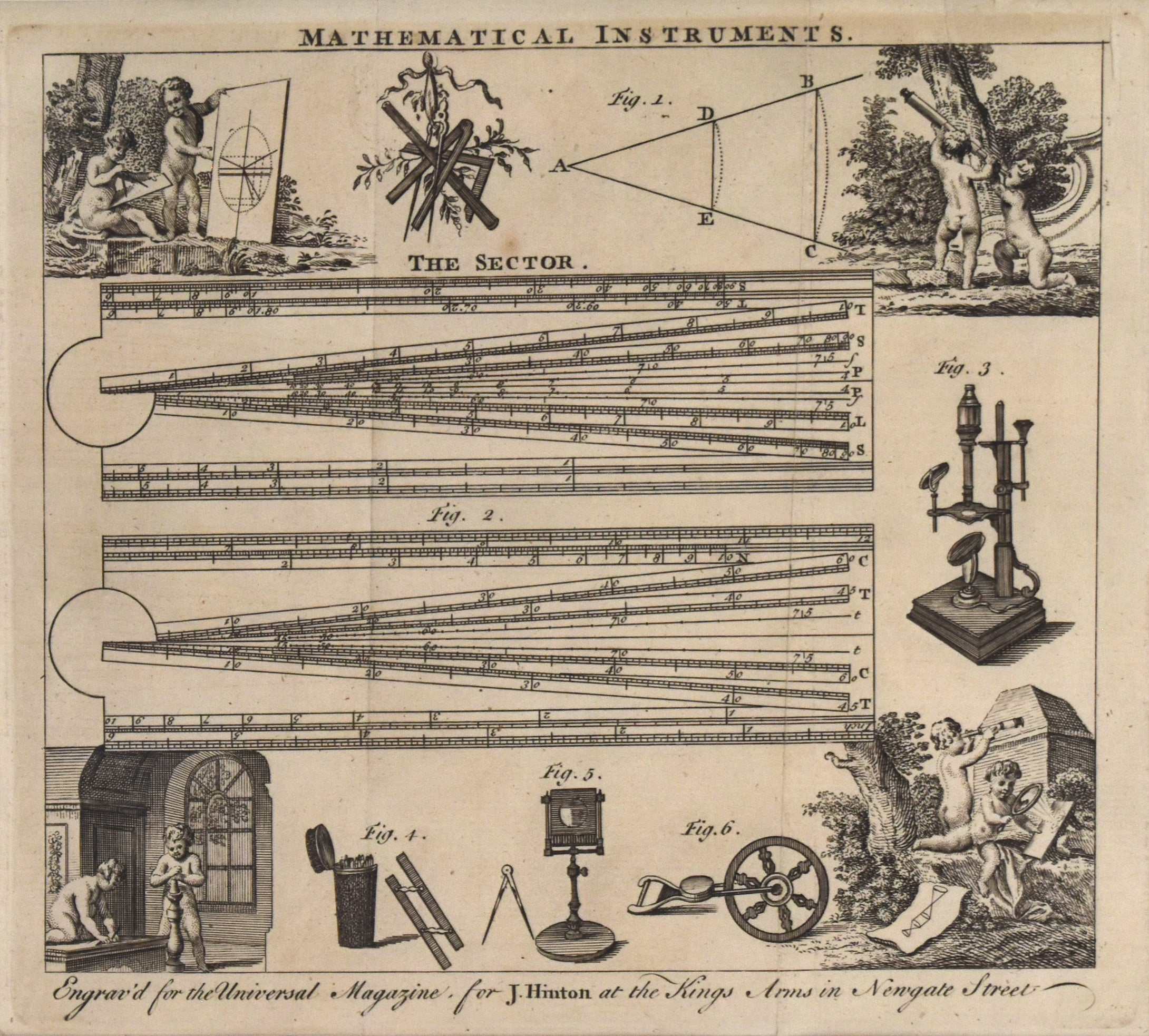 Mathematical Instruments: Universal Magazine c. 1760