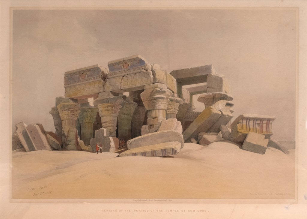 Remains of the Portico of the Temple of Kom Ombo: David Roberts 1846