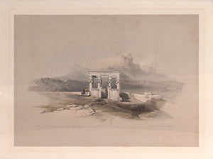 Temple of Isis on the Roof of the Great Temple of Dendera: David Roberts 1846-49