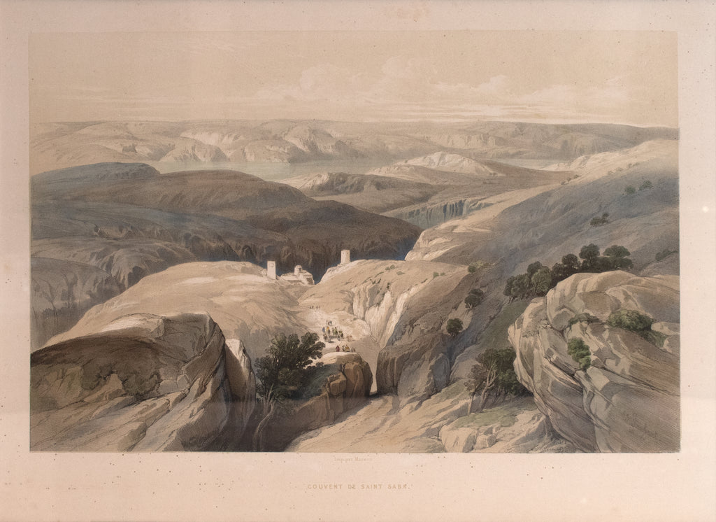 Convent of Saint Saba: David Roberts 1843