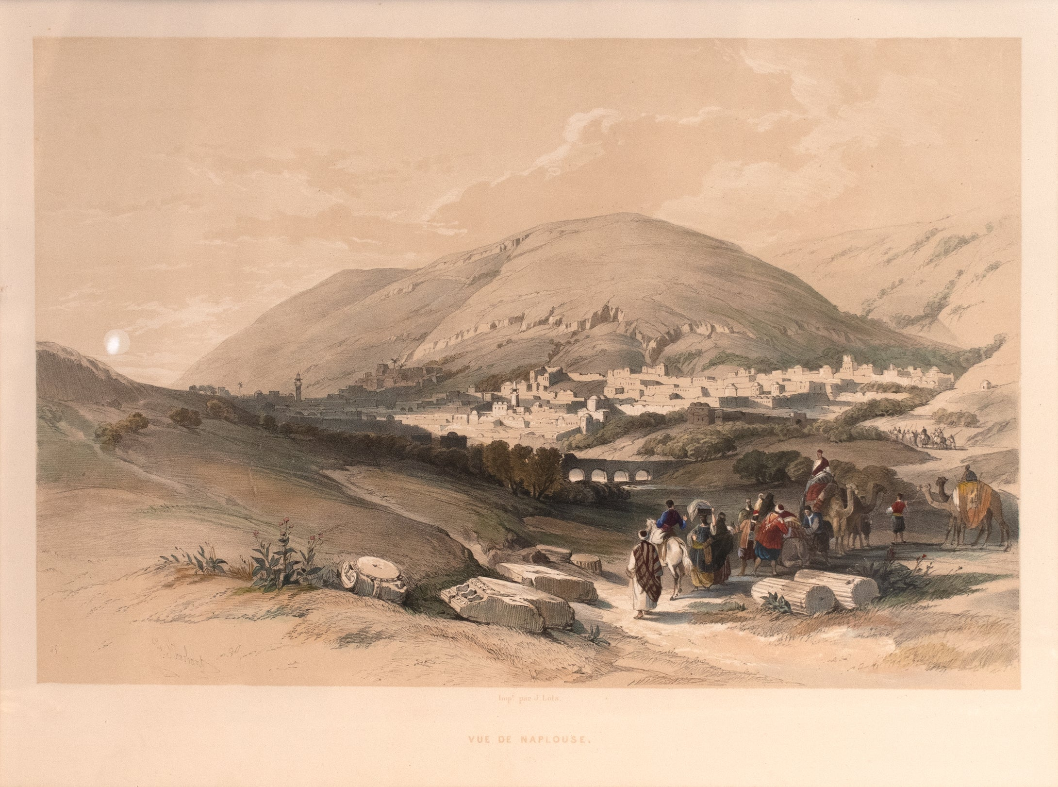 View of Nablus: David Roberts 1843