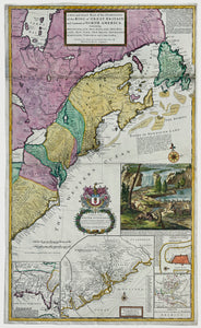 """Beaver Map"" Map Of The Dominions Of The King Of Great Britain On Ye Continent Of North America: Herman Moll 1715"