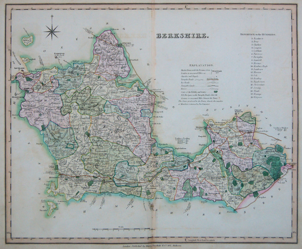 Old map of Berkshire, England