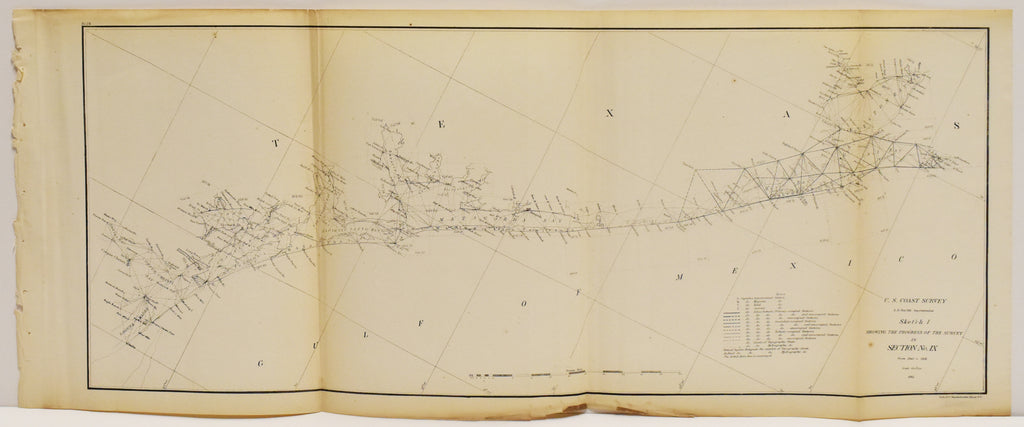 Gulf Coast Survey Corpus Christi to Galveston: Bache 1861