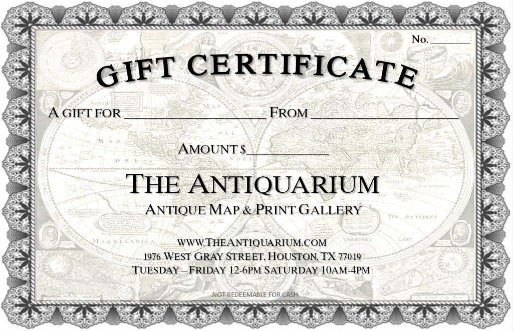 The Antiquarium Gift Certificate