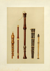 Double Flageolets, German Flute, Flutes Douces: A.J. Hipkins 1888