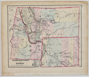 Idaho, Montana, and Wyoming: 1873