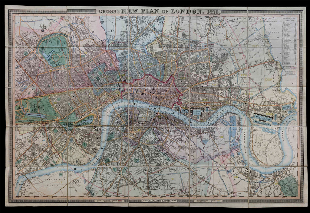 Cross's New Plan of London, 1836