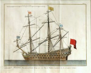 French Warship: Denis Diderot 1770