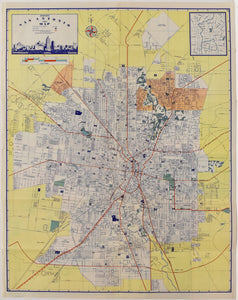 Map of San Antonio: Ashburn 1950