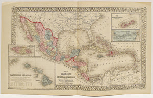 Mexico, Central America, and The West Indies: Mitchell 1877