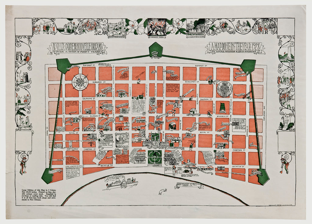Old map of New Orleans