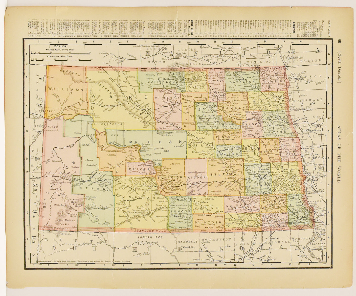 North Dakota: Rand, McNally & Co 1895